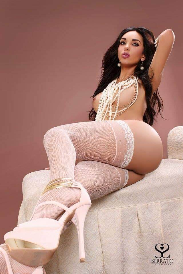 Miranda Lombardo shemale lingerie