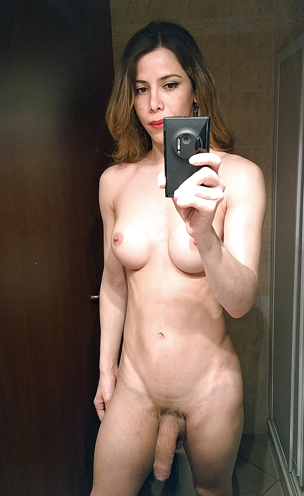 shemale selfie nude trans
