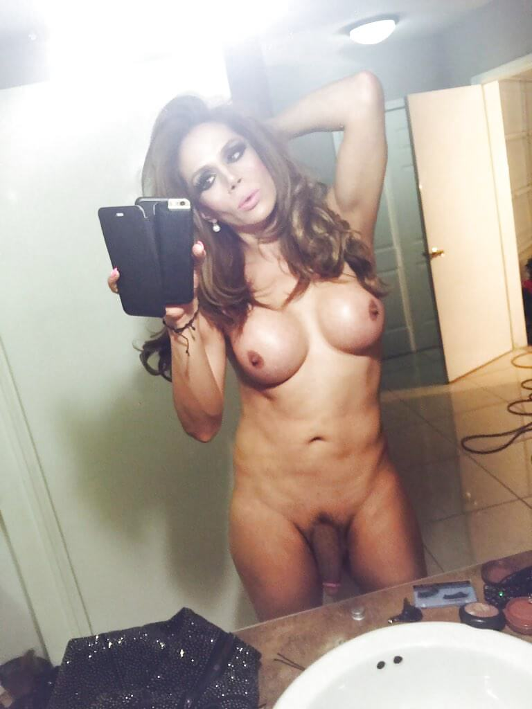 shemale selfie busty tranny