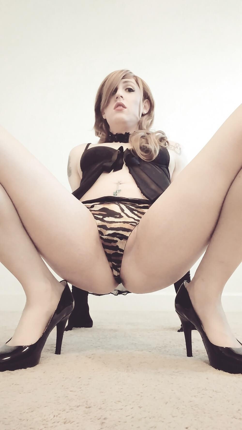 Katie sissy high heels
