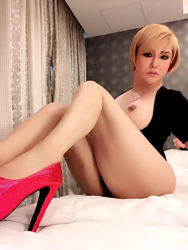 Crystal Tiu blonde ladyboy