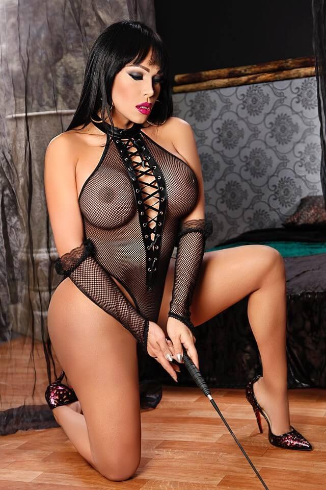 Valeria Irons shemale lingerie