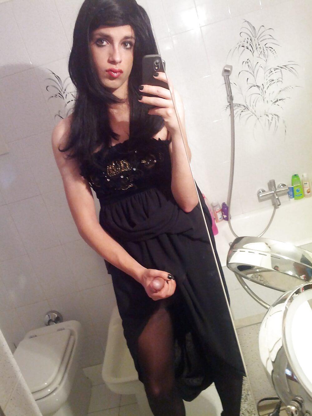 transvestite irene aoki selfie dick